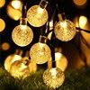 New 20 50 LEDS Crystal ball 5M 10M Solar Lamp Power LED String Fairy Lights Solar Garlands Garden Christmas Decor For Outdoor discount