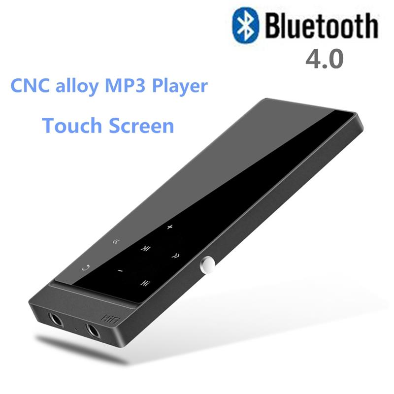2017 New Version Touch Screen MP3 Player Bluetooth 4.0 Metal mp3 Sports Lossless Music Player with FM Radio Recorder E-Book