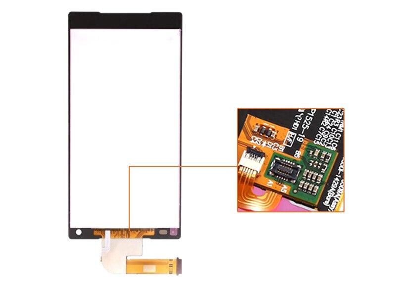 Envío libre de Dhl 10 Unids Nuevas Piezas Del Teléfono Móvil Lcd pantalla táctil digitalizador para xperia z5 compact mini e5803 negro/blanco