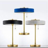 Американский светодиодный настольный светильник для гостиной в стиле ретро Берта франка, светильник для стола, покрытый золотом металличе