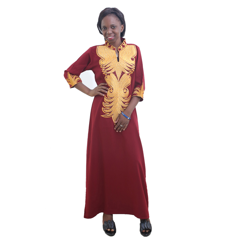MD African Dresses For Women Bazin Riche Africa Dress Plus Size Traditional African Long Dress African Print Women Clothing 2020