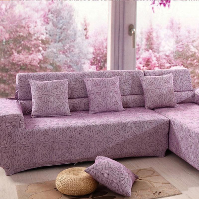 Sofa Protector Cover Paars Stretch Gepersonaliseerde Strepen Banken Gooien Covers Kussenovertrekken Unieke Couch Stof Doek Voor In