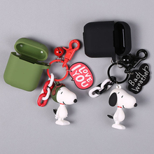 Cute Dog Silicone Case for Apple Airpods Bluetooth Wireless Earphone Accessories  Headset Headphone Protective Cover Bag цена и фото