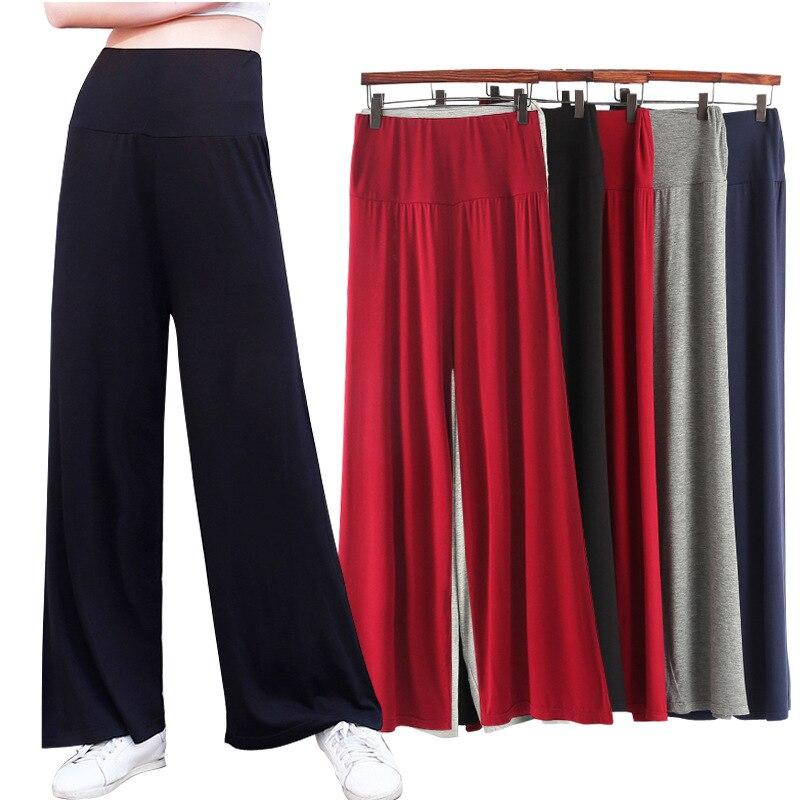 High Waist   Pants   Women Summer Pantalon Femme   Wide     Leg     Pants   Modal Trousers Women Loose Streetwear Plus Size Women   Pants   Q1478