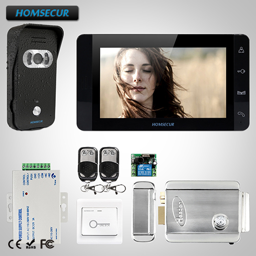 HOMSECUR 7 Hands-free Video&Audio Home Intercom+Black Monitor for Apartment TC021-B + TM703-B HOMSECUR 7 Hands-free Video&Audio Home Intercom+Black Monitor for Apartment TC021-B + TM703-B