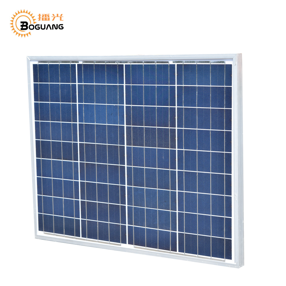 BOGUANG 50W Polycrystalline Solar Module by Poly solar cell factory cheap selling 12V solar panel for RV Marine Boat use 80pcs poly solar cell 156x39mm polycrystalline kits high quality for diy 80w solar panel solar generators