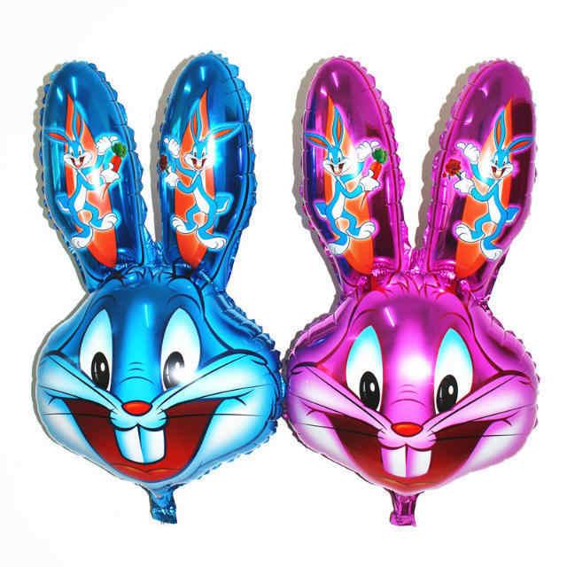 10 шт./лот фольгированные воздушные шары в виде животных кролика украшения для дня
