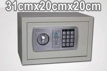 31x20x20 см Семейный Офис Металлической стене небольшой мини одна дверь дома электронный замок strongarmer сейф