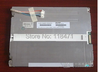 Original 10.4 inch industrial LCD Panel  LQ104S1DG31 for S-H-A-R-P  800 RGB *600 SVGA