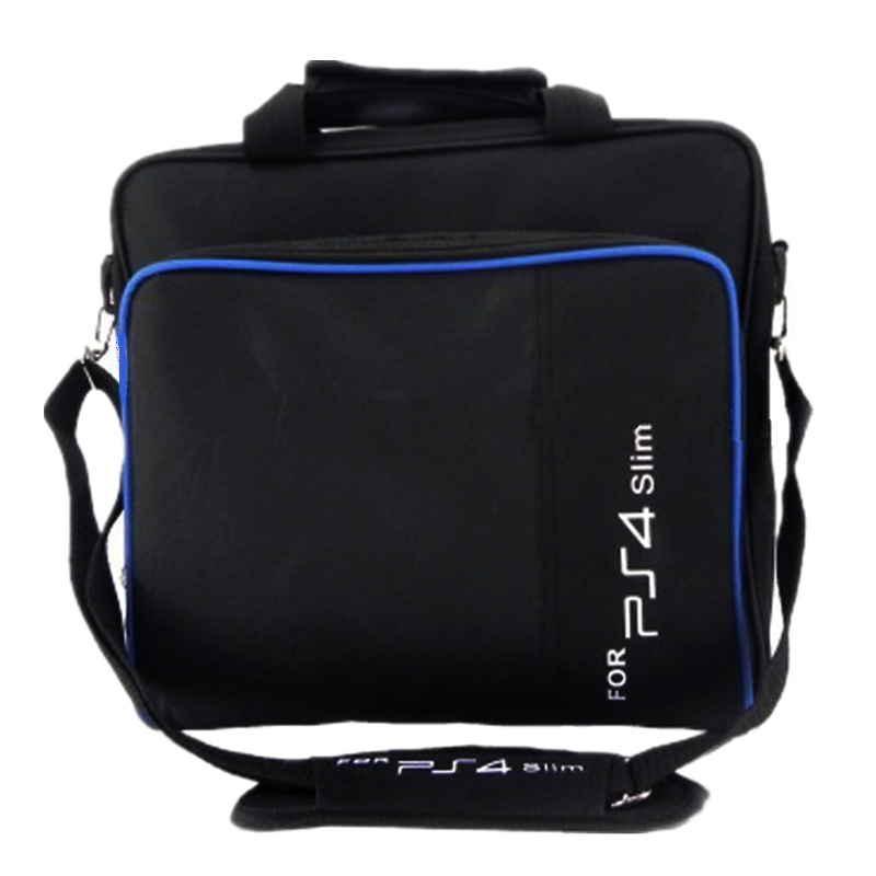 PS4 Slim Game Sytem Bag Canvas Case Protect Shoulder Carry Bag Handbag Original size for PlayStation 4 Slim PS 4 Slim Console