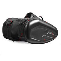 58L Motorcycle Saddlebags Rear Seat Luggage Large Capacity Multi use Expandable Body & Frame Tank Bag & Saddlebags