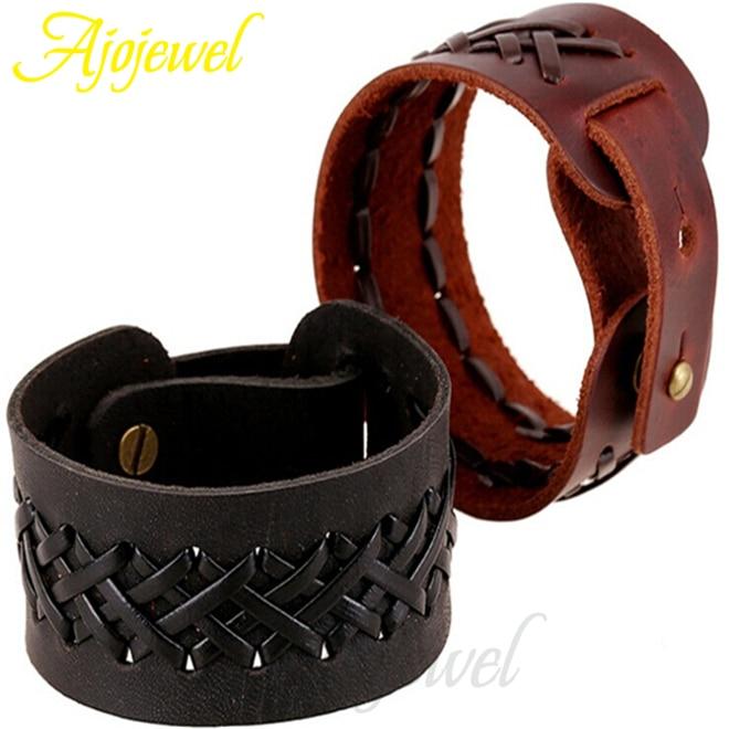 gros bracelet cuir