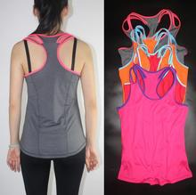 2018 New Gym Sport Women Running Yoga Tank Tops Sexy Fitness Comfortable Vest Quick Fast Drying Tank Top Tees For Women