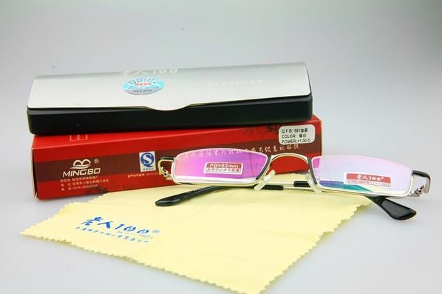 Nuevo modelo de contador lente de la prescripción del medio borde Gafas comerciales Marco de Lujo Por Encargo gafas de miopía Photochrmic-1 a-6