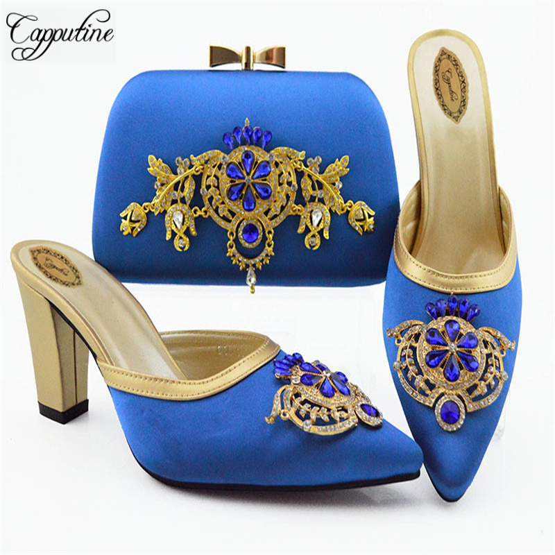 High Quality Itaian Elegant Woman Shoes And Bag Set African Luxury Pumps Shoes And Purse Set For Wedding Party Size 38-43 SL009High Quality Itaian Elegant Woman Shoes And Bag Set African Luxury Pumps Shoes And Purse Set For Wedding Party Size 38-43 SL009