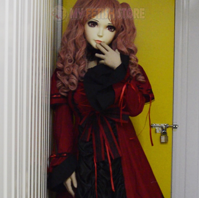 female Sweet Girl Resin Half Head Kigurumi Mask With Bjd Eyes Cosplay Japanese Anime Role Lolita Mask Crossdress Doll Activating Blood Circulation And Strengthening Sinews And Bones Boys Costume Accessories mei-03