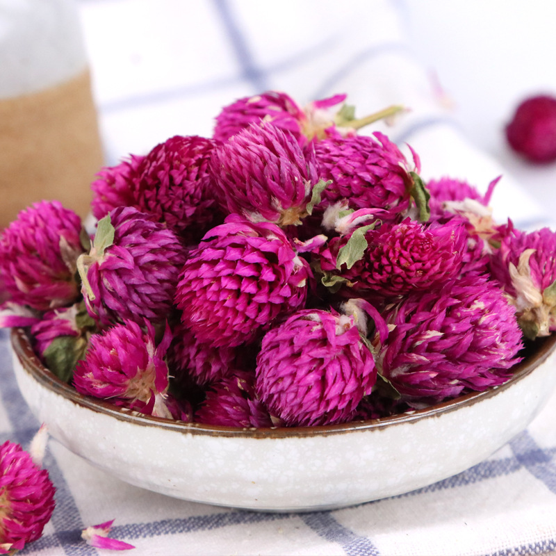 Dried Gomphrena Globosa Flower Natural Globe Amaranth Flower For Resin Jewellery Pressed Flowers DIY Sachets Making Confetti 25g in Artificial Dried Flowers from Home Garden