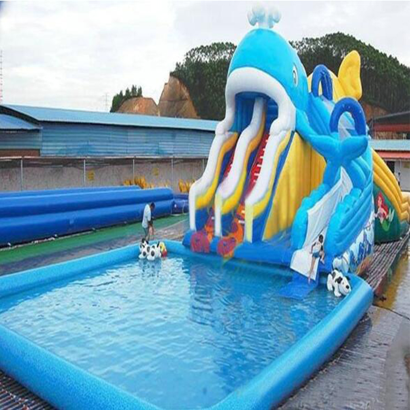 Outdoor Giant Inflatable water slide for pool commerial ...