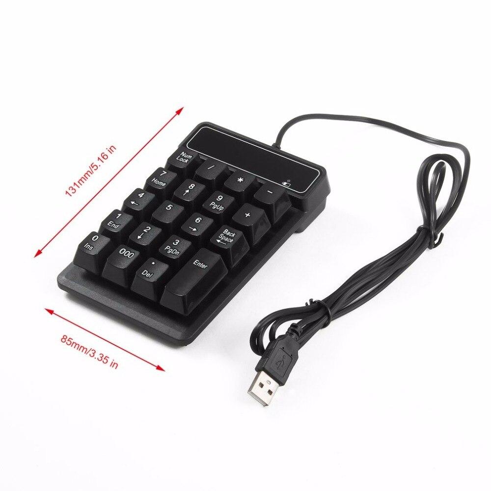 Bàn Phím 19-Số-Gia-Cơ-Cho-Kế-Toán-Game-Thủ-Kết-Nối-USB (Chống Nước)