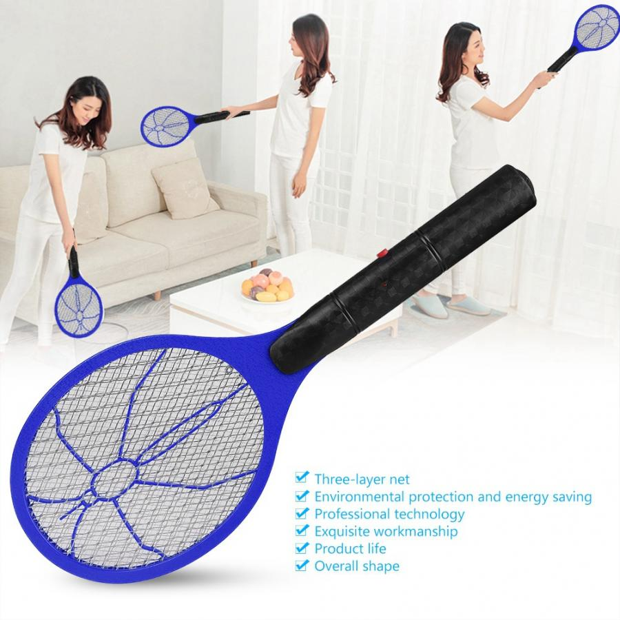 Image 3 - Summer Hot Cordless Battery Power Electric mug killer Fly Mosquito Swatter Bug Zapper Racket Insects Killer Home Bug Zappers 46-in Bug Zappers from Home & Garden
