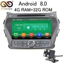 Sinairyu 4 г Оперативная память Android 8,0 автомобильный DVD для hyundai IX45 Santa Fe 2012 2013 2014 Octa Core 32 г встроенная память радио gps плеер головное устройство
