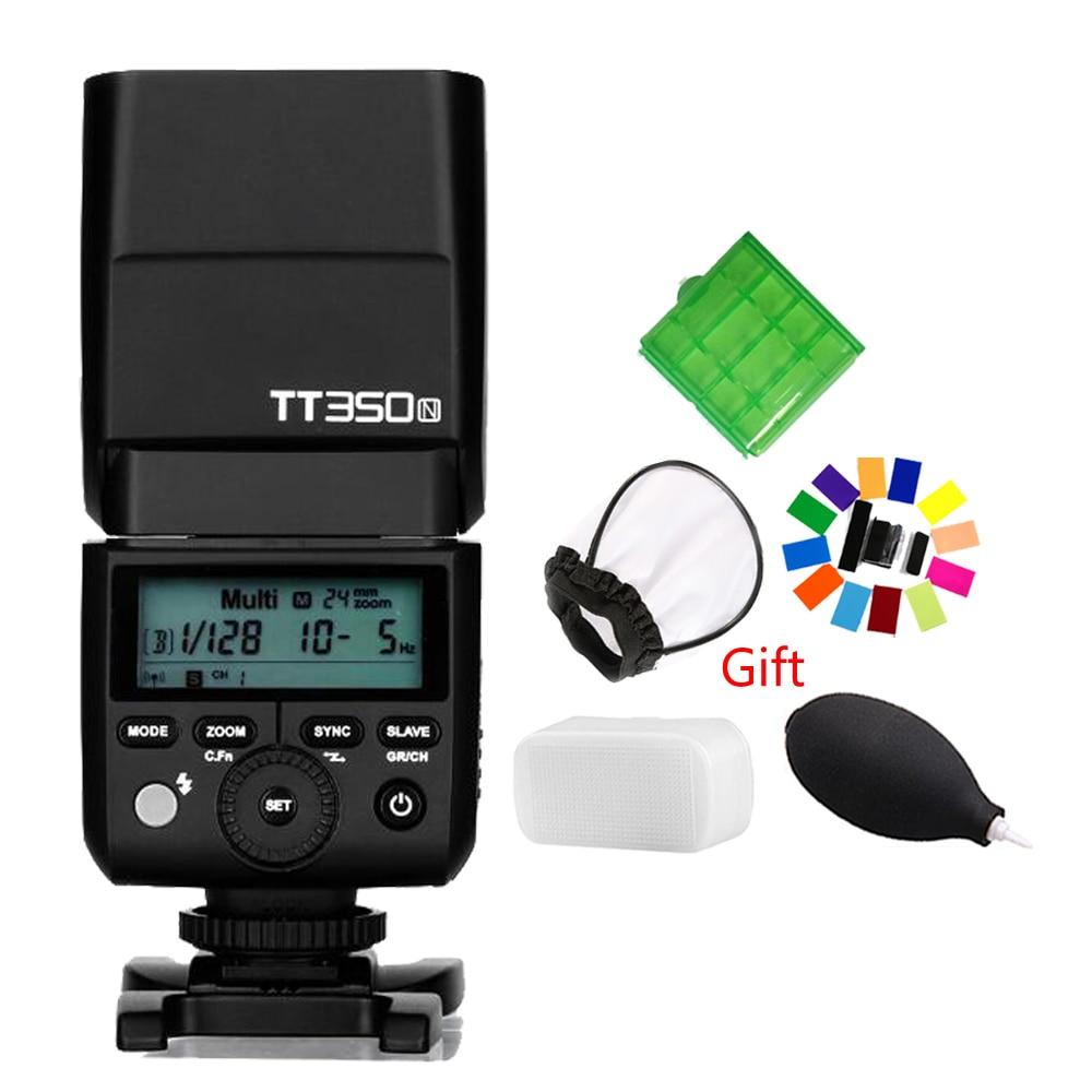 GODOX TT350N 2.4G HSS 1/8000s TTL GN36 Camera Flash Speedlite for Nikon D750 D7000 D7100 D5100 D5200 D5000 D3200 D3100 meike mk d750 battery grip pack for nikon d750 dslr camera replacement mb d16 as en el15 battery