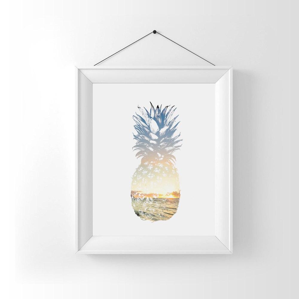 Yaz İncəsənət Ananas Divar Dekorasiya Tropik Dekor Çimərlik - Ev dekoru - Fotoqrafiya 2