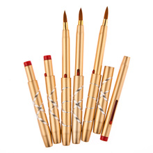 2016 12pcs Aluminum Portable Flexible Makeup Brushes set Lip Brush Tool Cosmetic Makeup For Face  Beauty Essentials