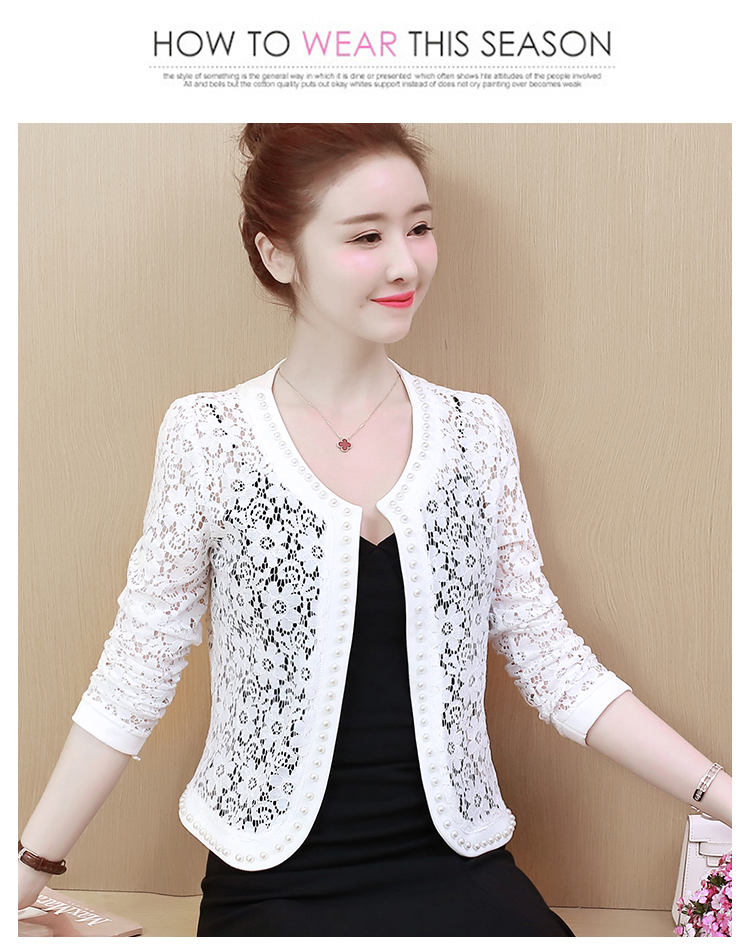 HTB1Wau1S4TpK1RjSZFKq6y2wXXaf - Women Jacket Long Sleeve black hollow lace jacket women fashion women's jackets women coats and jackets women clothing B239