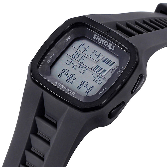 Shhors Brand Sport Digital Watch Men Silicone Watches LED Electronic Wristwatch Waterproof Clock Silicone Army Reloj Hombre 2017 4