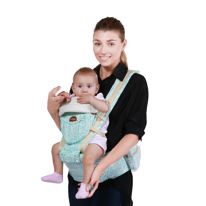 ФОТО New Arrives Baby Carriers Infant Cotton Multifunctional Bag Children Holding Straps Belt Hip Seat Double Shoulder Backpack Stool