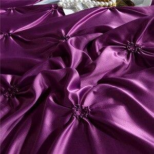 Image 4 - LOVINSUNSHINE Comforter Bedding Sets Double Flower Bed Linen US King Size Silk Duvet Cover Set AN02#