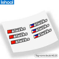 Road MTB Bicycle flag name stickers MTB frame logo personal name decals custom rider ID sticker bicycle STYLE.20