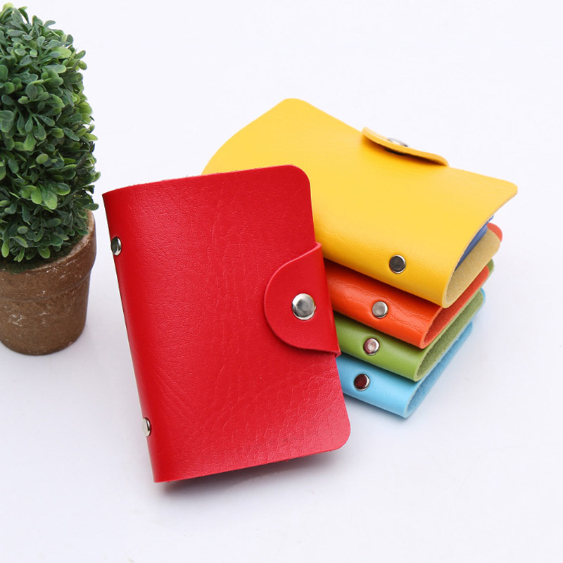 2019 Credit Card Holder Men Women Travel Cards Wallet PU Leather Fashion Buckle Business ID Card Holders FC55