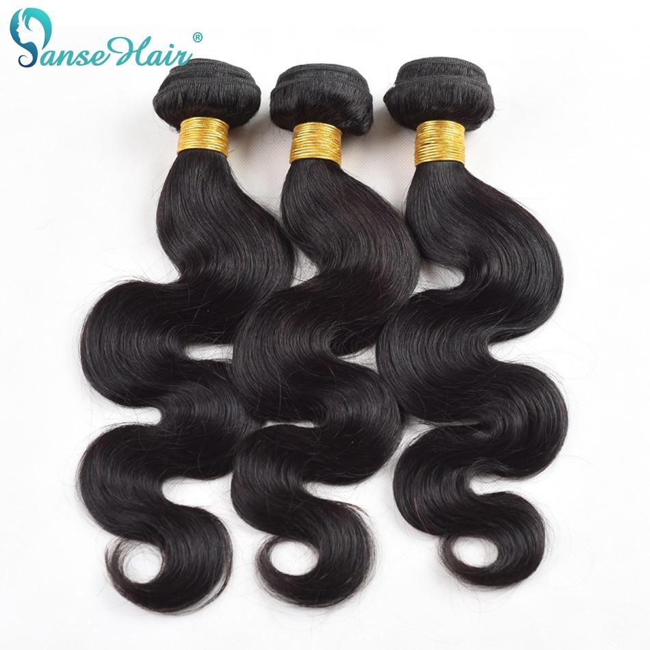 Panse Indian Hair Body Wave Customized 8-30 Inches 3 Pcs Per Lot  Human Hair Weaving 300g Non Remy Human Hair Bundles