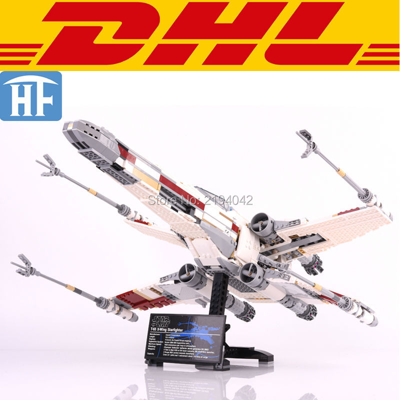 ФОТО 2017 New 1586Pcs Star Wars Red Five X-wing Starfighter Model Building Kits Blocks Brick Toy For Children Figure Gift With 10240