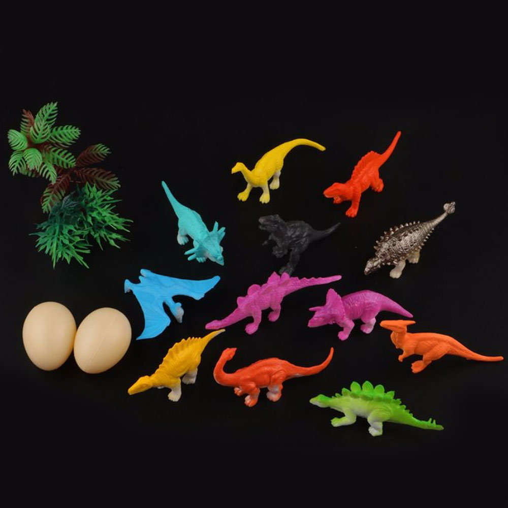16pcs/Lot Simulation Mini Dinosaur Animal Model Figures Home Decor Accessories Figurine Kids Gift Toys
