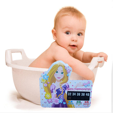 Beauty Girl Cartoon LCD Bath Thermometer Infant Bath Water Temperature Digital Thermometer Plastic Temperature Thermometer