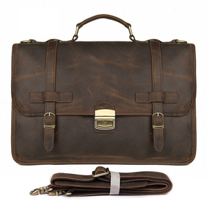 Image 5 - MAHEU Luxury Designer Leather Briefcase Mans Male Genuine Leather Business Bag Brown Leather Briefcase Bag For Laptop Notebooks