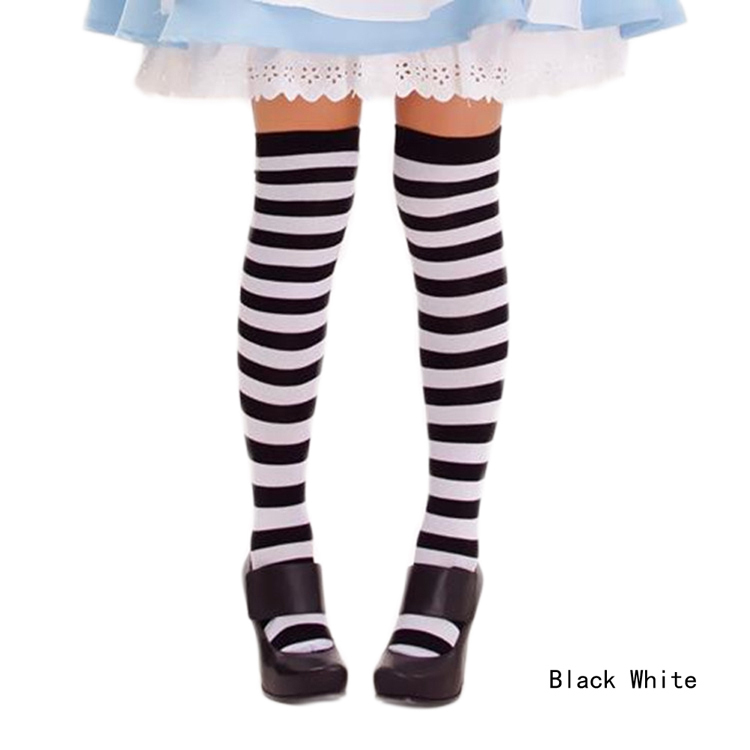 2f83ae01f Fashion New Autumn Style Hot Sales Classic Black And White Stripe Socks  Zebra Print Women Knee high Socks-in Stockings from Underwear   Sleepwears  on ...