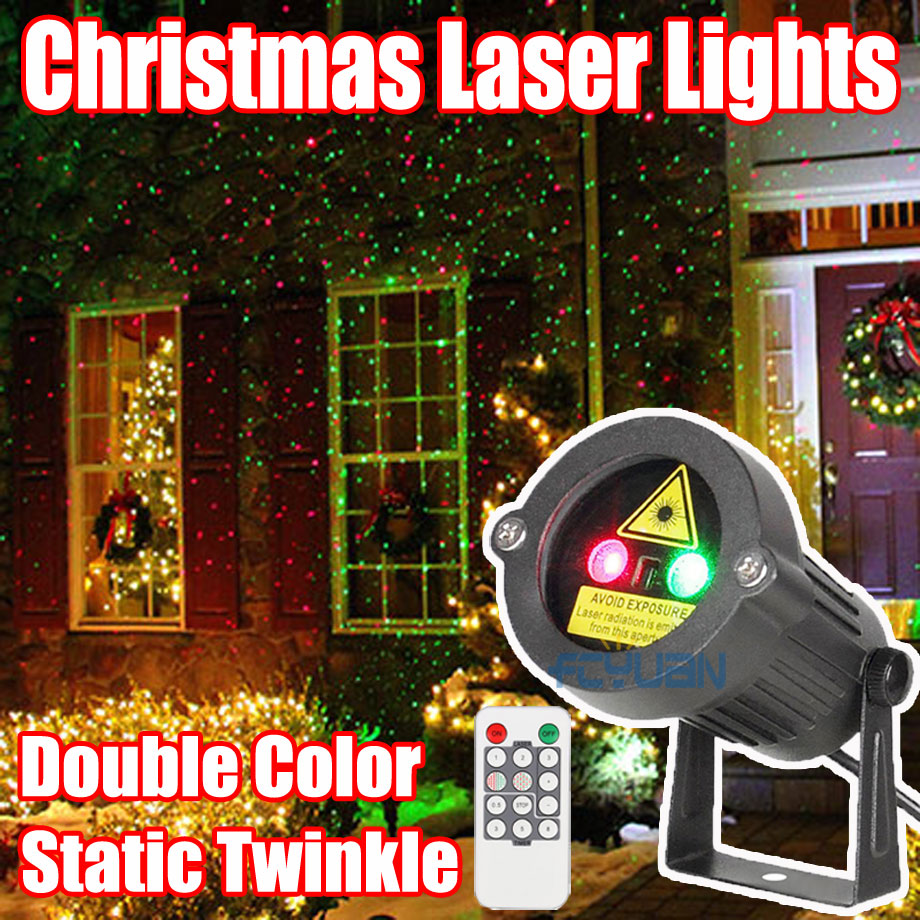 Waterproof Outdoor Garden Decorations Christmas Star Laser Projector Showers Light For Home Red Green Static Twinkle With Remote outdoor garden decoration waterproof christmas party halloween laser light star projector showers red green static twinkle