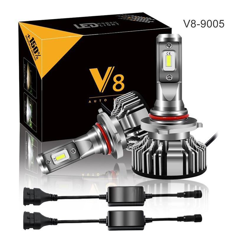 1 Set 100W 16000LM CR V8 COB LED Headlight 50W 8000LM H1 H3 H4 H7 H8 H9 H11 9005 9006 9012 9004 9007 H13 Car LED Headlight Bulb