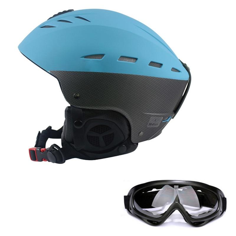 Sports de plein air ultra-léger Ski Helme demi-couvert Ski cyclisme casque intégralement moulé Sports lunettes Ski casque