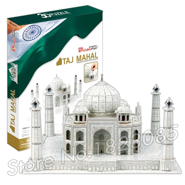 87PCS Taj Mahal  2016 New 3D Puzzle DIY Jigsaw Assembly Model Building Set Architecture Creative gift Kids Toys for boys