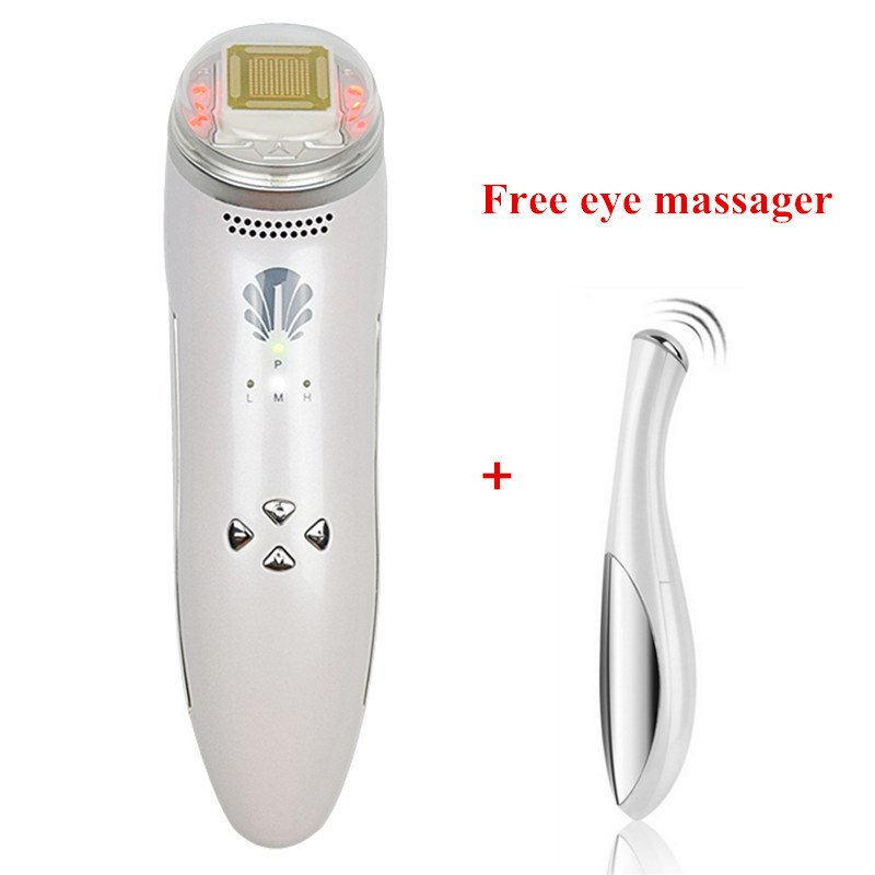 24k Gold Thermal Dot Matrix Infrared RF Face Lifting Wrinkle Removal Anti-Aging Facial Thermage Massage Skin Care Beauty Device inteligent temperature control lcd display mini fractional rf thermage skin lifting beauty wrinkle remove facial toning device
