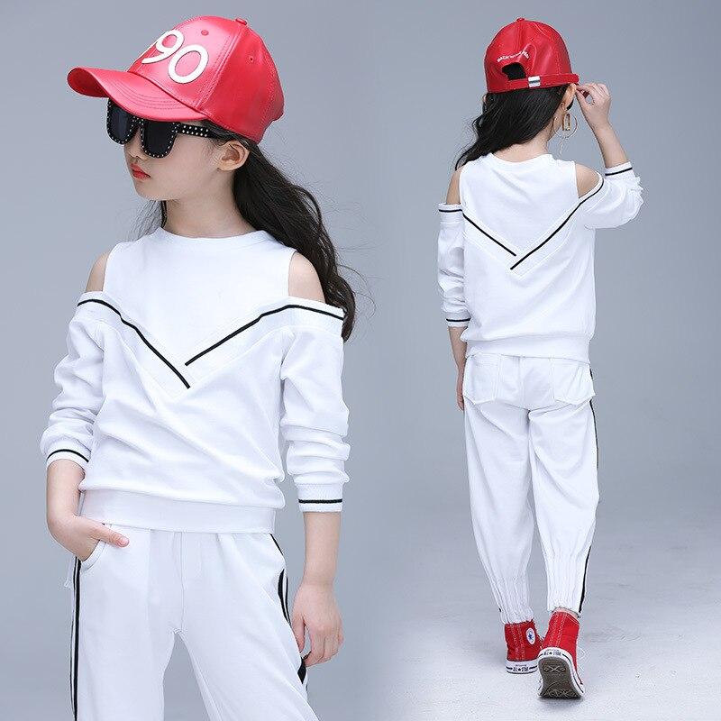 3d056ce11 Dzieci odzież zestawy dla dziewczynek ubrania sportowe bliźniakami styl  dziewczęce stroje sportowe nastoletnich dzieci dresy odzież sportowa  rozmiar 3 13 T ...