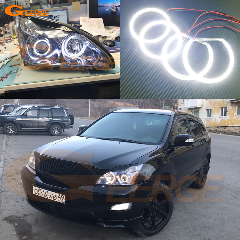 For LEXUS RX300 RX330 RX350 RX400h 2004 2005 2006 2007 2008 Excellent Angel Eyes Ultra bright smd led Angel Eyes kit for ford fiesta facelift 2005 2006 2007 2008 excellent 4 pcs smd led angel eyes ultrabright illumination angel eyes kit