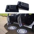 2x LEVOU porta Do Carro luz do projetor do logotipo Para Nissan Qashqai Juke j11 X-trail pathfinder Tiida nota almera primera Acessórios teana