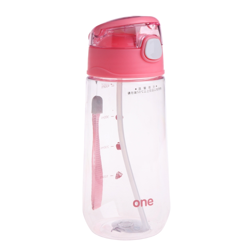 500ML Baby Kids Children Portable Feeding Drinking Water Bottle Cup With Straw