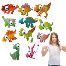 Cartoon Dinosaurus Patch Ijzer Op Applicaties Badges T-shirt Jurken EEN-niveau Wasbare Warmteoverdracht Stickers Kleding DIY Afdrukken(China)